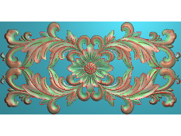 QTYH106-JDP格式欧式洋花精雕图欧式贴花雕刻图中式洋花电脑精雕图(含灰度图)