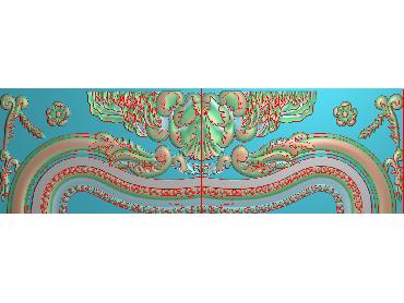 QTYH113-JDP格式欧式洋花精雕图欧式贴花雕刻图中式洋花电脑精雕图(含灰度图)