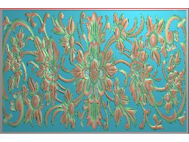 QTYH120-JDP格式欧式洋花精雕图欧式贴花雕刻图中式洋花电