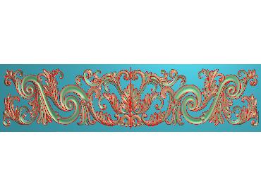 QTYH129-JDP格式欧式洋花精雕图欧式贴花雕刻图中式洋花电脑精雕图(含灰度图)