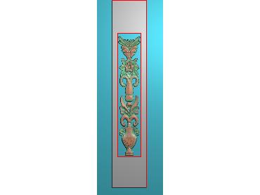 QTYH131-JDP格式欧式洋花精雕图欧式贴花雕刻图中式洋花电脑精雕图(含灰度图)