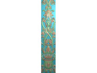 QTYH132-JDP格式欧式洋花精雕图欧式贴花雕刻图中式洋花电脑精雕图(含灰度图)