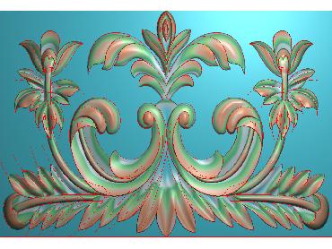 QTYH140-JDP格式欧式洋花精雕图欧式贴花雕刻图中式洋花电脑精雕图(含灰度图)