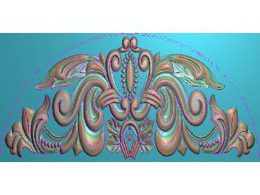 QTYH146-JDP格式欧式洋花精雕图欧式贴花雕刻图中式洋花电脑精雕图(含灰度图)