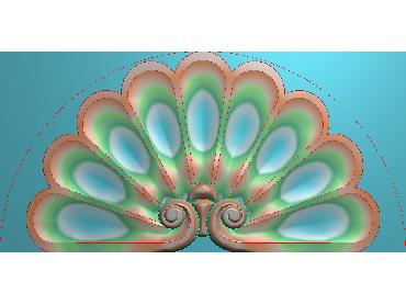 QTYH147-JDP格式欧式洋花精雕图欧式贴花雕刻图中式洋花电脑精雕图(含灰度图)