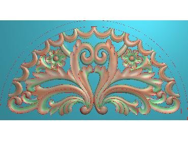 QTYH151-JDP格式欧式洋花精雕图欧式贴花雕刻图中式洋花电脑精雕图(含灰度图)