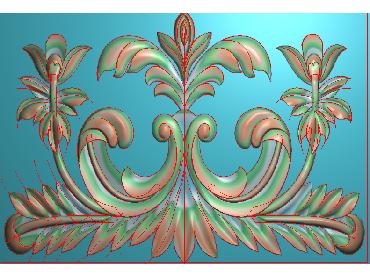 QTYH158-JDP格式欧式洋花精雕图欧式贴花雕刻图中式洋花电脑精雕图