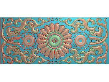 QTYH175-JDP格式欧式洋花精雕图欧式贴花雕刻图中式洋花电脑精雕图