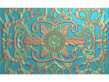 QTYH184-JDP格式欧式洋花精雕图欧式贴花雕刻图中式洋花电脑精雕图