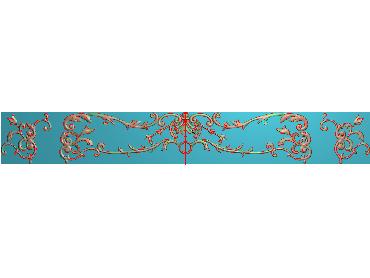 QTYH189-JDP格式欧式洋花精雕图欧式贴花雕刻图中式洋花电脑精雕图