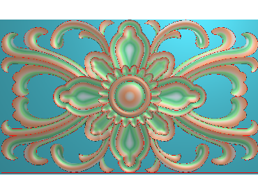 QTYH193-JDP格式欧式洋花精雕图欧式贴花雕刻图中式洋花电脑精雕图