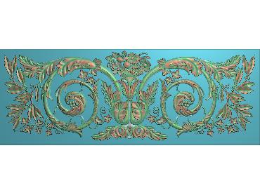 QTYH219-JDP格式欧式洋花精雕图欧式贴花雕刻图中式洋花电脑精雕图