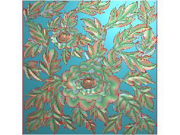 QTYH246-JDP格式欧式洋花精雕图欧式贴花雕刻图中式洋花电脑精雕图