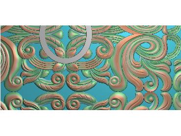 QTYH250-JDP格式欧式洋花精雕图欧式贴花雕刻图中式洋花电脑精雕图
