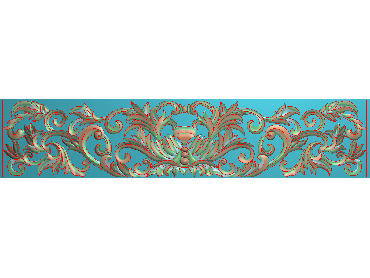 QTYH257-JDP格式欧式洋花精雕图欧式贴花雕刻图中式洋花电脑精雕图