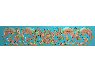 QTYH261-JDP格式欧式洋花精雕图欧式贴花雕刻图中式洋花电脑精雕图