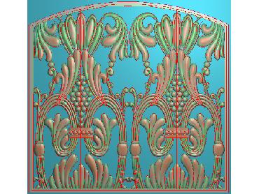 QTYH268-JDP格式欧式洋花精雕图欧式贴花雕刻图中式洋花电脑精雕图