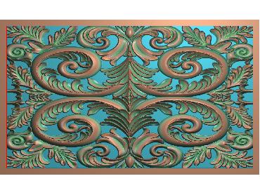 QTYH272-JDP格式欧式洋花精雕图欧式贴花雕刻图中式洋花电脑精雕图