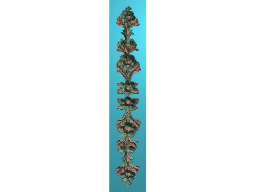 QTYH281-JDP格式欧式洋花精雕图欧式贴花雕刻图中式洋花电脑精雕图