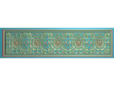 QTYH295-JDP格式欧式洋花精雕图欧式贴花雕刻图中式洋花电脑精雕图