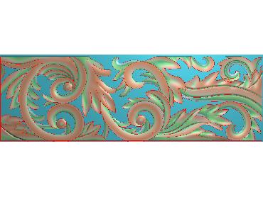 QTYH296-JDP格式欧式洋花精雕图欧式贴花雕刻图中式洋花电脑精雕图