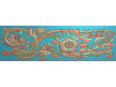 QTYH298-JDP格式欧式洋花精雕图欧式贴花雕刻图中式洋花电脑精雕图