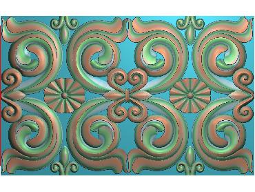 QTYH299-JDP格式欧式洋花精雕图欧式贴花雕刻图中式洋花电脑精雕图