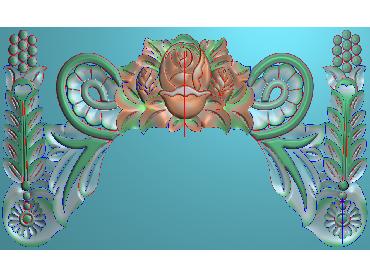 QTYH317-JDP格式欧式洋花精雕图欧式贴花雕刻图中式洋花电脑精雕图