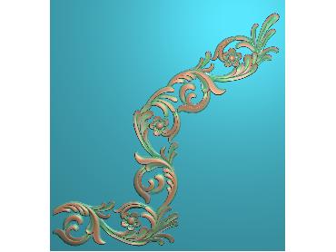 QTYH334-JDP格式欧式洋花精雕图欧式贴花雕刻图中式洋花电脑精雕图