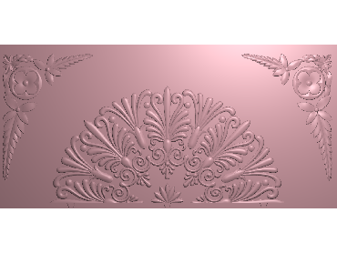 QTYH336-JDP格式欧式洋花精雕图欧式贴花雕刻图中式洋花电脑精雕图