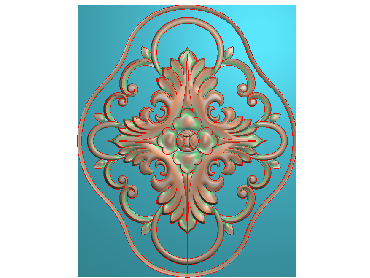 QTYH353-JDP格式欧式洋花精雕图欧式贴花雕刻图中式洋花电脑精雕图