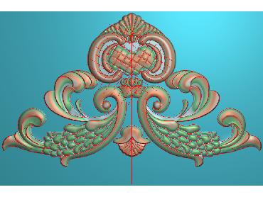 SJYH001-JDP格式欧式三角洋花精雕图三角洋花电脑雕刻图帽顶洋花精雕图(含灰度图)
