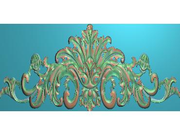 SJYH015-JDP格式欧式三角洋花精雕图三角洋花电脑雕刻图帽顶洋花精雕图(含灰度图)