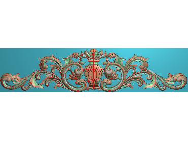 SJYH031-JDP格式欧式三角洋花精雕图三角洋花电脑雕刻图帽顶洋花精雕图(含灰度图)