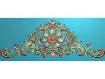 SJYH039-JDP格式欧式三角洋花精雕图三角洋花电脑雕刻图帽顶洋花精雕图(含灰度图)