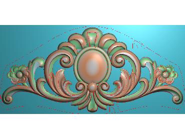 SJYH053-JDP格式欧式三角洋花精雕图三角洋花电脑雕刻图帽顶洋花精雕图(含灰度图)