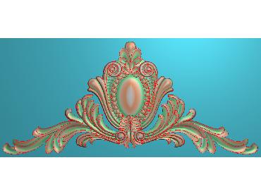SJYH060-JDP格式欧式三角洋花精雕图三角洋花电脑雕刻图帽顶洋花精雕图(含灰度图)