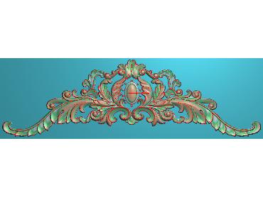 SJYH104-JDP格式欧式三角洋花精雕图三角洋花电脑雕刻图帽顶洋花精雕图(含灰度图)