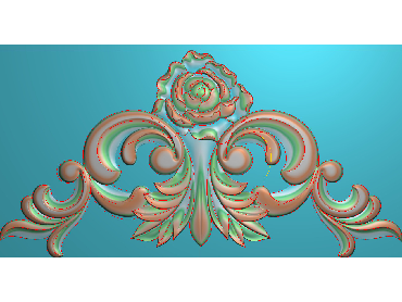 SJYH124-JDP格式欧式三角洋花精雕图三角洋花电脑雕刻图帽顶洋花精雕图(含灰度图)