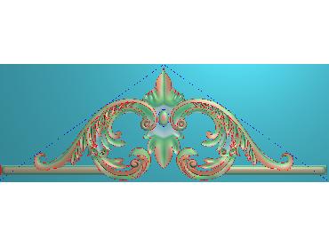 SJYH136-JDP格式欧式三角洋花精雕图三角洋花电脑雕刻图帽顶洋花精雕图