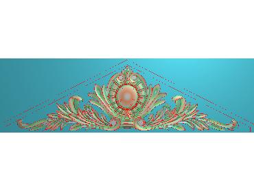 SJYH138-JDP格式欧式三角洋花精雕图三角洋花电脑雕刻图帽顶洋花精雕图