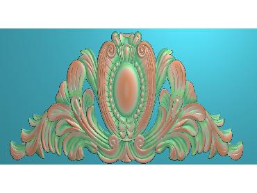 SJYH166-JDP格式欧式三角洋花精雕图三角洋花电脑雕刻图帽顶洋花精雕图