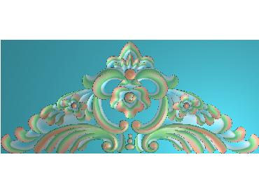 SJYH168-JDP格式欧式三角洋花精雕图三角洋花电脑雕刻图帽顶洋花精雕图