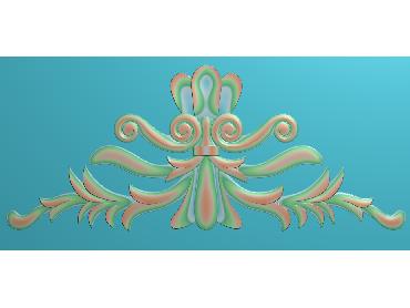 SJYH170-JDP格式欧式三角洋花精雕图三角洋花电脑雕刻图帽顶洋花精雕图