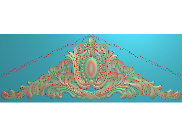 SJYH172-JDP格式欧式三角洋花精雕图三角洋花电脑雕刻图帽顶洋花精雕图