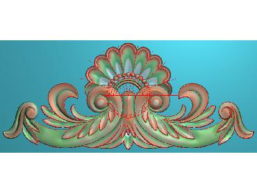 SJYH173-JDP格式欧式三角洋花精雕图三角洋花电脑雕刻图帽顶洋花精雕图