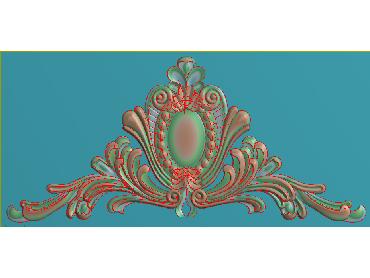 SJYH174-JDP格式欧式三角洋花精雕图三角洋花电脑雕刻图帽顶洋花精雕图