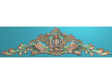 SJYH175-JDP格式欧式三角洋花精雕图三角洋花电脑雕刻图帽顶洋花精雕图