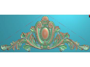SJYH191-JDP格式欧式三角洋花精雕图三角洋花电脑雕刻图帽顶洋花精雕图