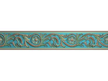 OSXH011-JDP格式欧式线花精雕图长条洋花精雕图石线边框雕刻图(含灰度图)